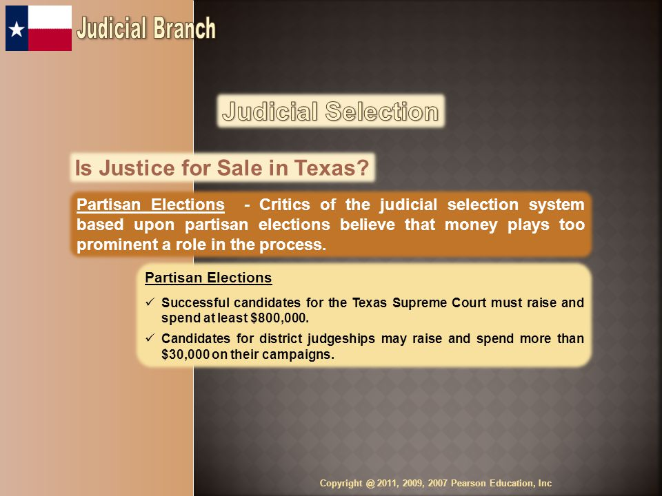 Is Justice for Sale in Texas.