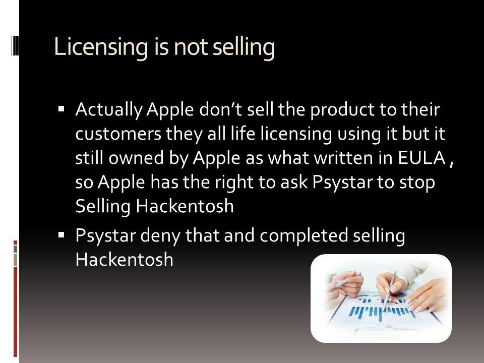 Apple Lawsuit Psystar  July 3, 2008, Apple filed a lawsuit against Psystar.