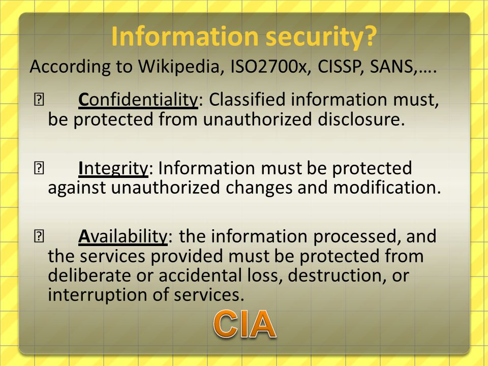 Information security.