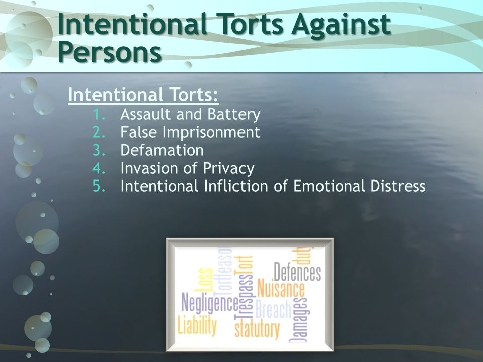 Assault and Battery  Two separate Torts  Assault  Battery