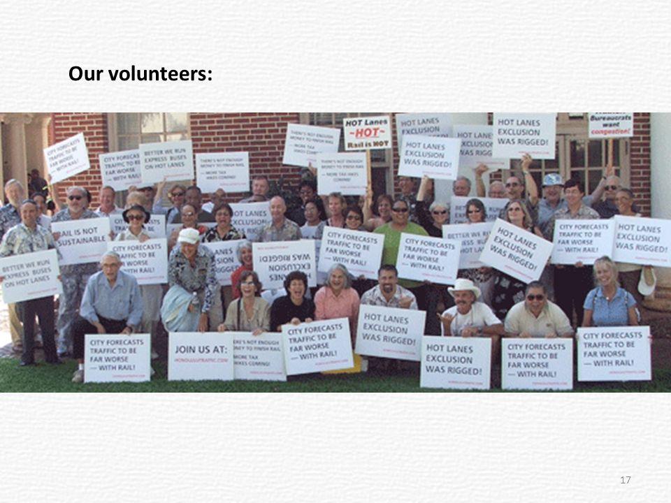 Our volunteers: 17