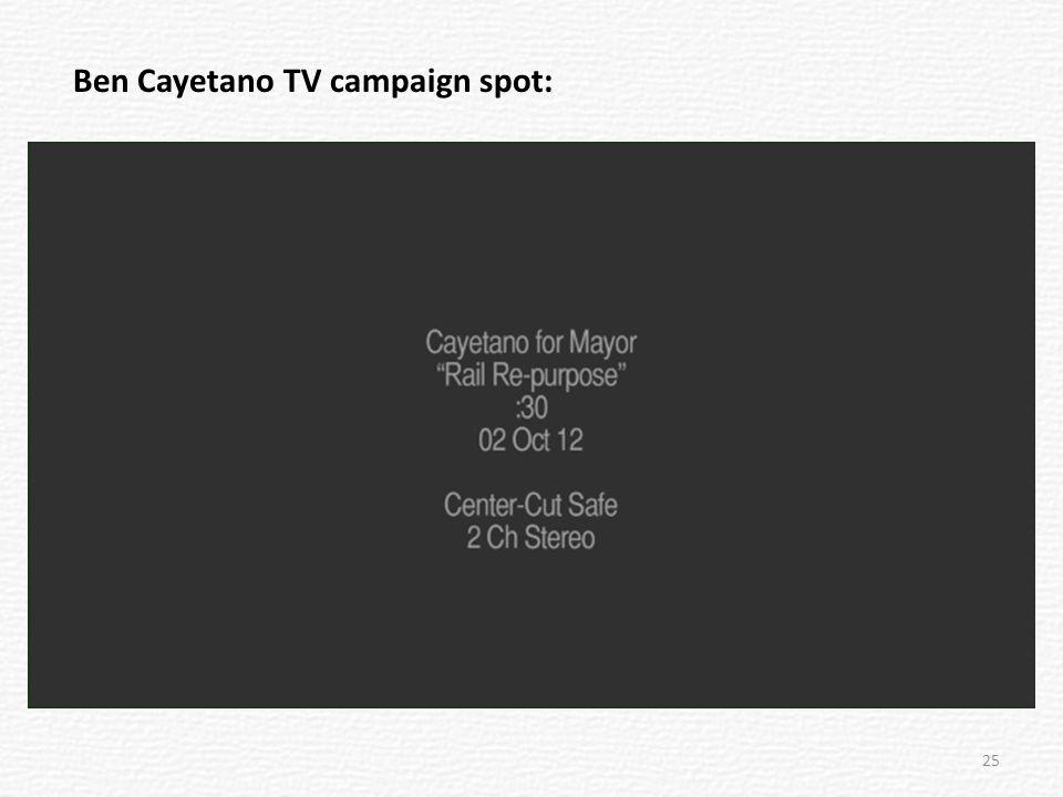 Ben Cayetano TV campaign spot: 25