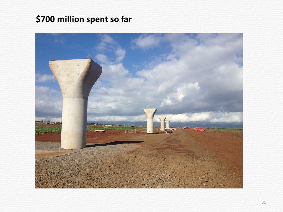 $700 million spent so far 31