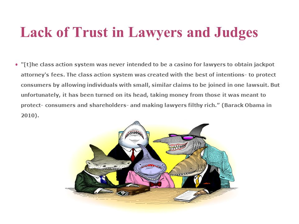 Lack of Trust in Lawyers and Judges