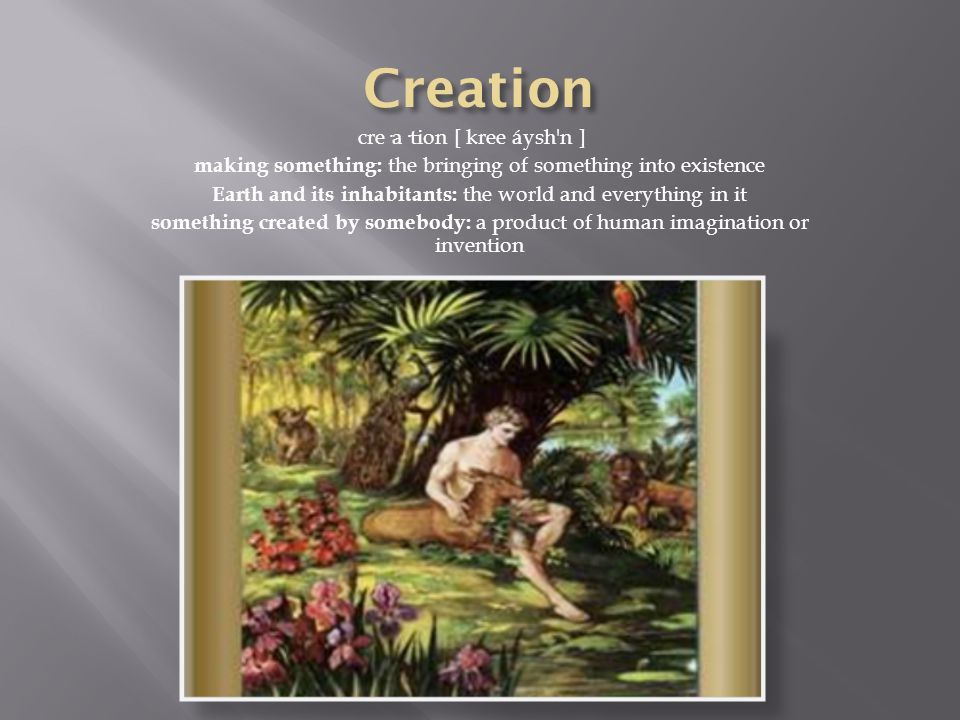  First Story of Creation  Genesis 1:1-2,4  How is Proverbs 8:22- 36 about Creation?
