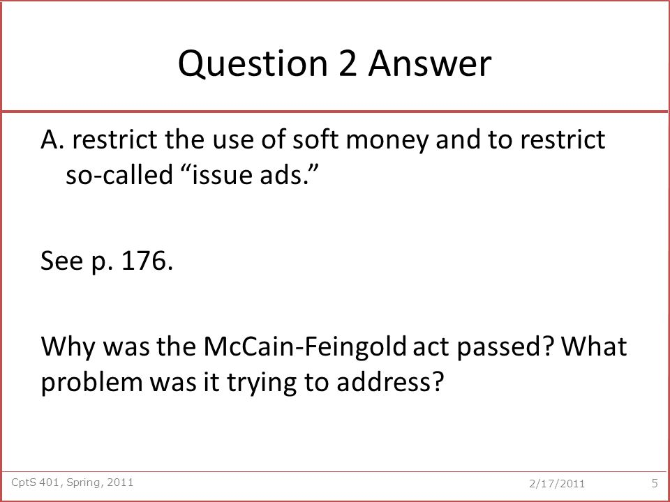 CptS 401, Spring, 2011 2/17/2011 Question 2 Answer A.