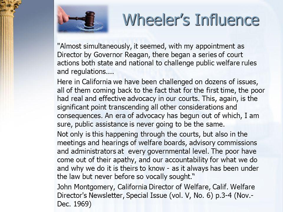 Wheeler's Influence Wheeler's Influence