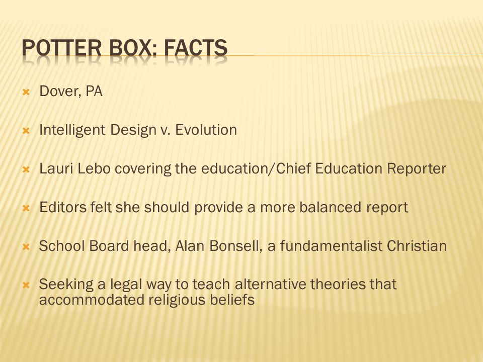  Dover, PA  Intelligent Design v.