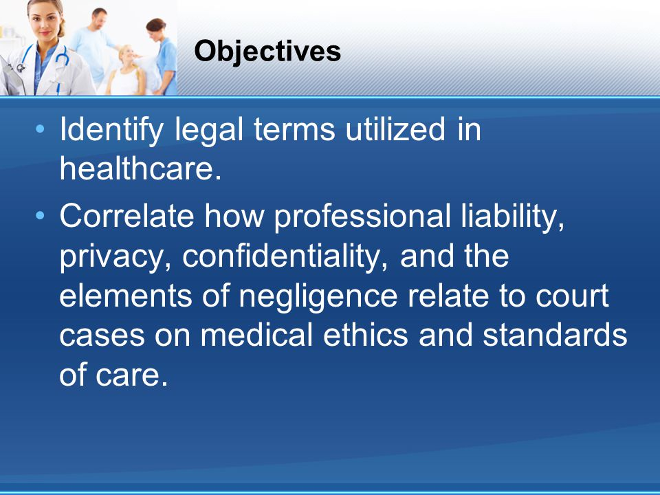 Definitions: Professional liability Mosby's medical dictionary: Professional liability: the legal obligation of health care professionals or their insurers to compensate patients for injury or suffering caused by acts of omission or commission by the professionals.