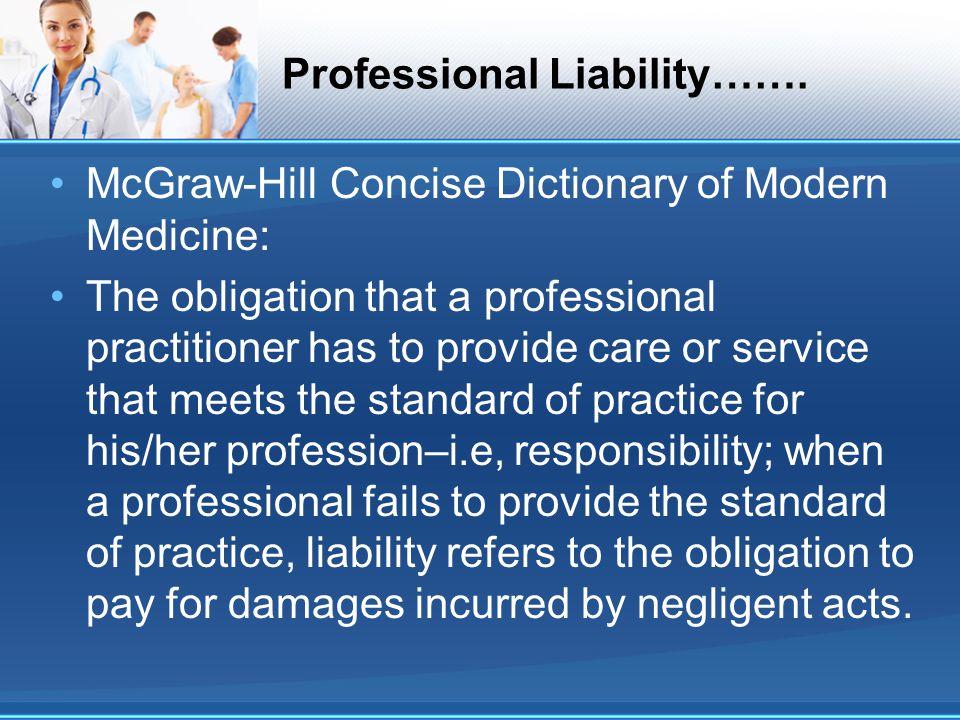 Professional Liability…….