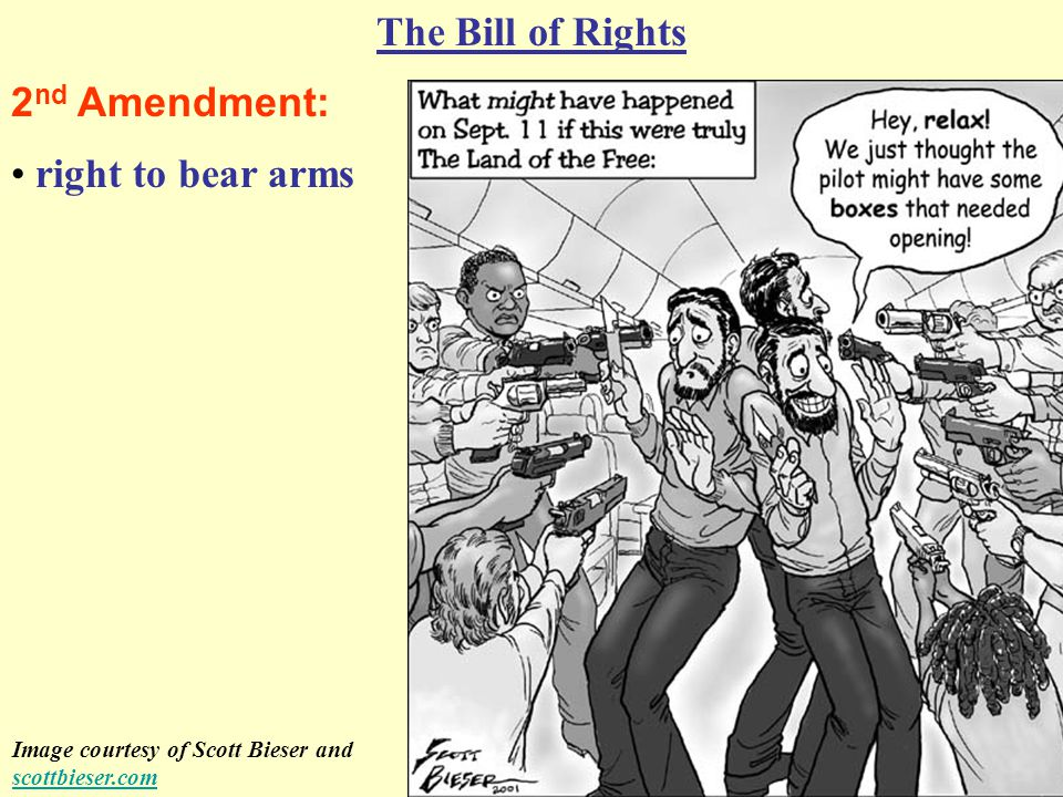 7 th Amendment: The Bill of Rights right to a trial by jury in civil cases (a lawsuit between two people rather than between you and the government) Image courtesy of T.