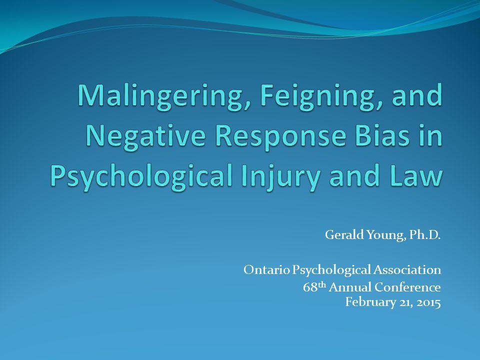 Ambiguity of Malingering by Faust et al. (2012a, b)