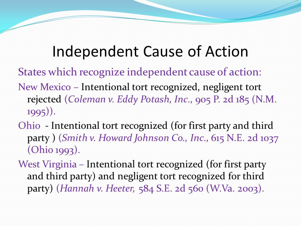 Independent Cause of Action - Florida Florida – no independent cause of action for first-party spoliation (Martino v.