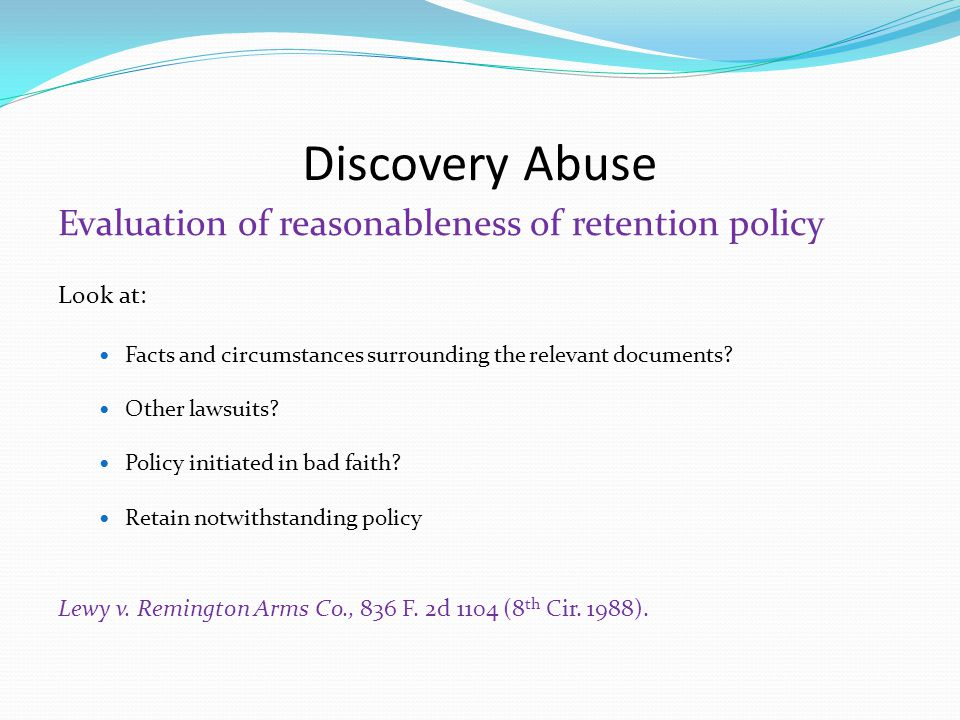 Discovery Abuse Factors in determining prejudice How important is it to the party's case.