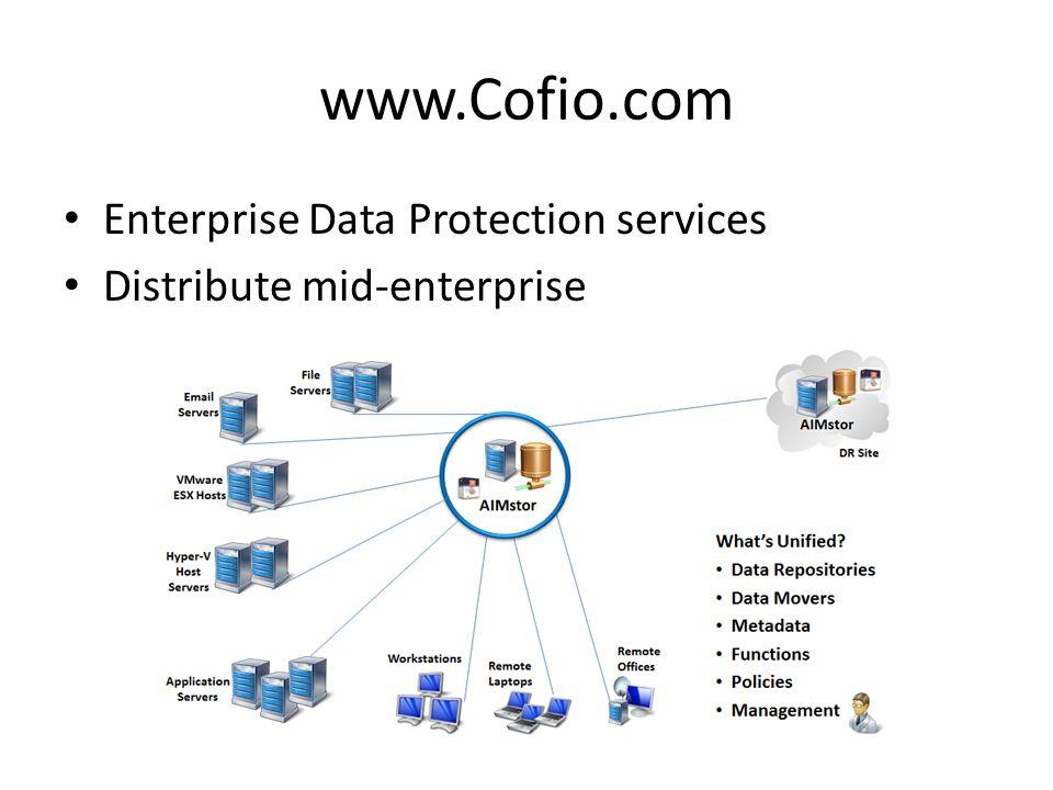 www.Cofio.com Enterprise Data Protection services Distribute mid-enterprise