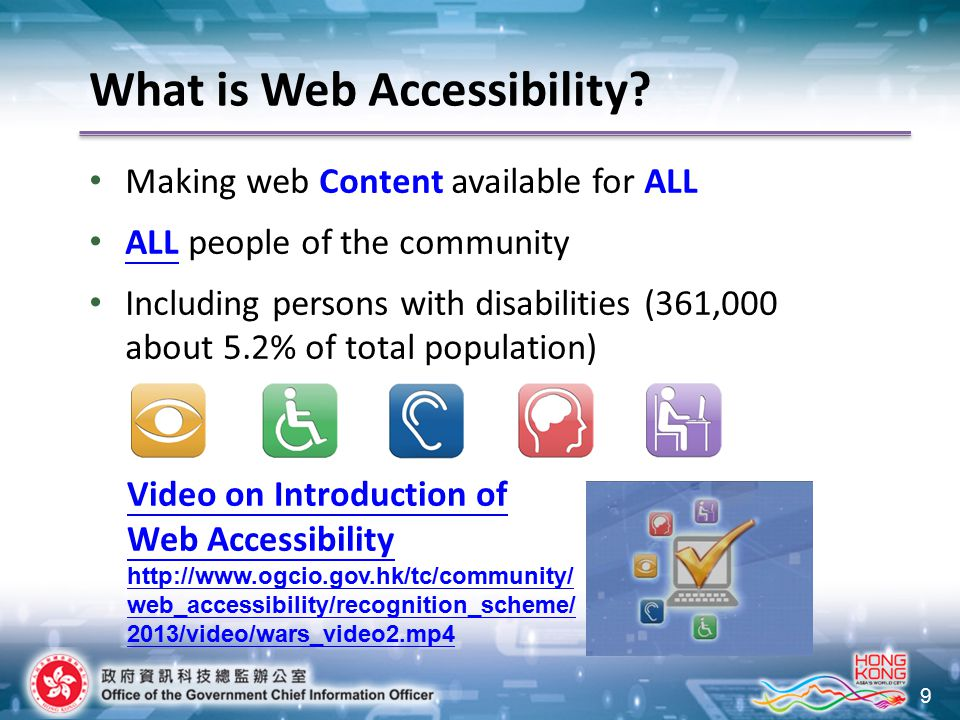 9 What is Web Accessibility.