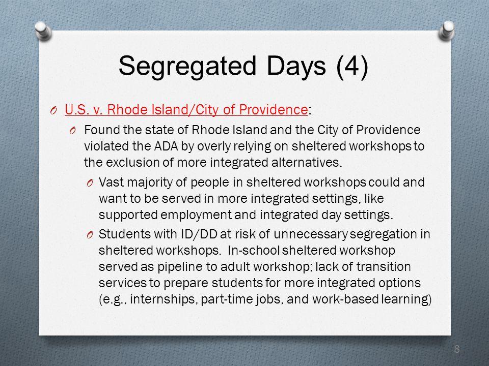 8 Segregated Days (4) O U.S. v.