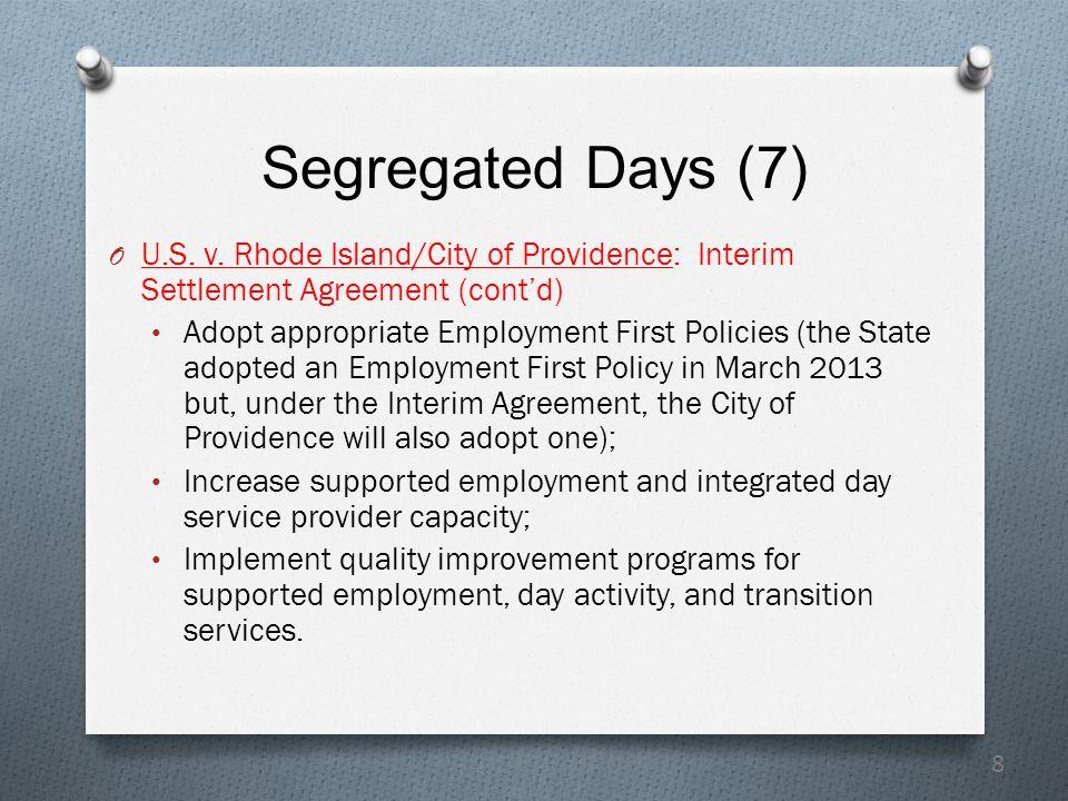 8 Segregated Days (7) O U.S. v.