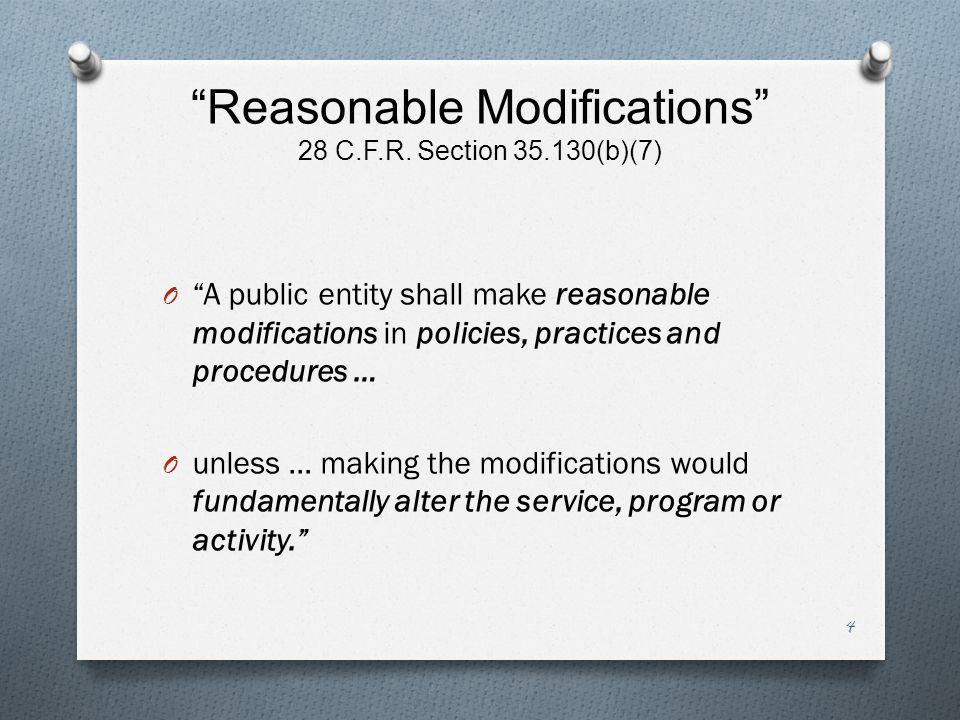 Reasonable Modifications 28 C.F.R.