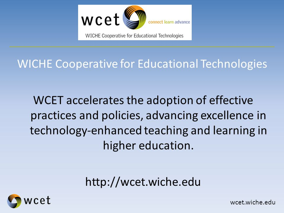 wcet.wiche.edu As a result, institutions must comply with the provisions found in 600.9(a).