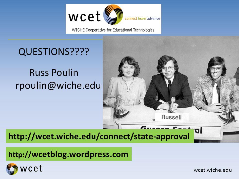 wcet.wiche.edu QUESTIONS .