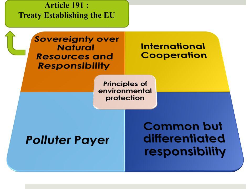 Article 191 : Treaty Establishing the EU