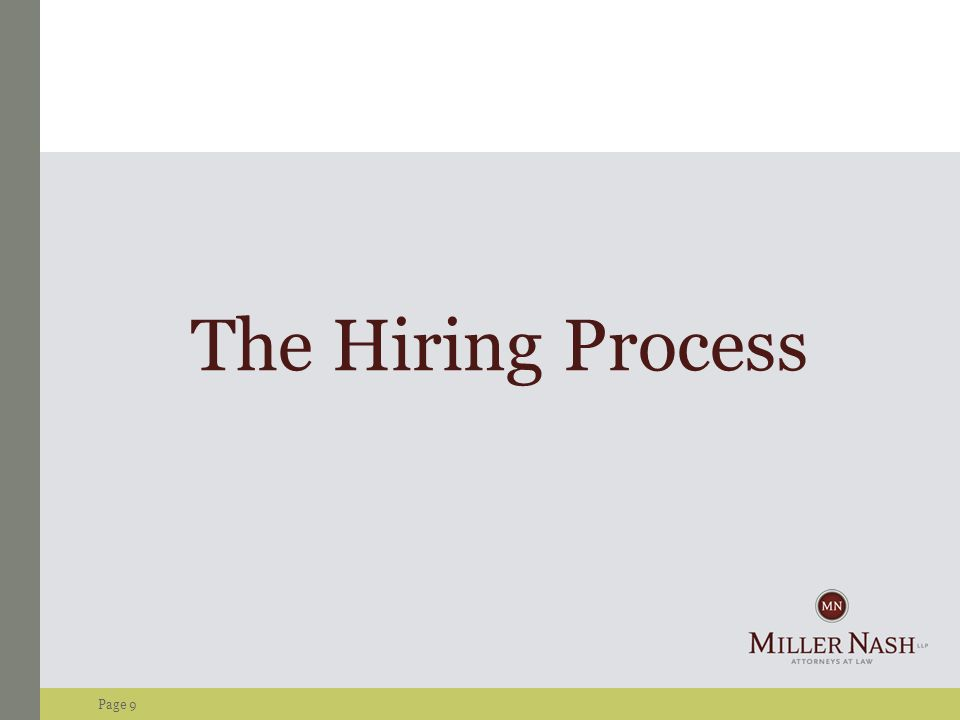Page 9 The Hiring Process