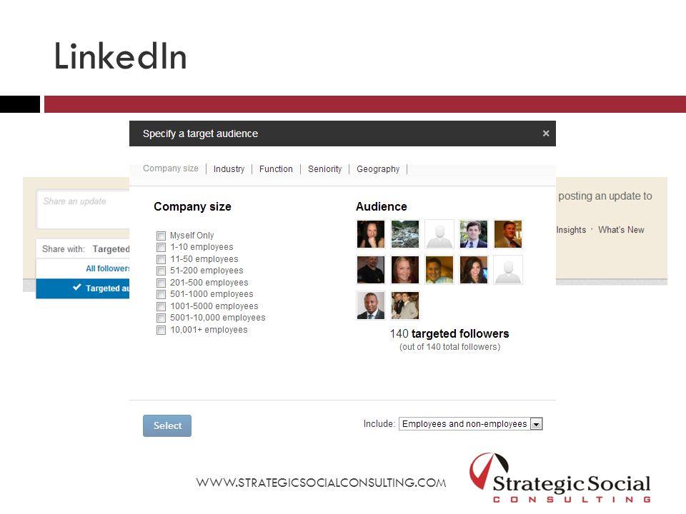 WWW.STRATEGICSOCIALCONSULTING.COM LinkedIn