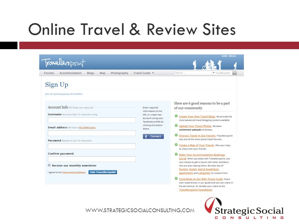 WWW.STRATEGICSOCIALCONSULTING.COM Online Travel & Review Sites