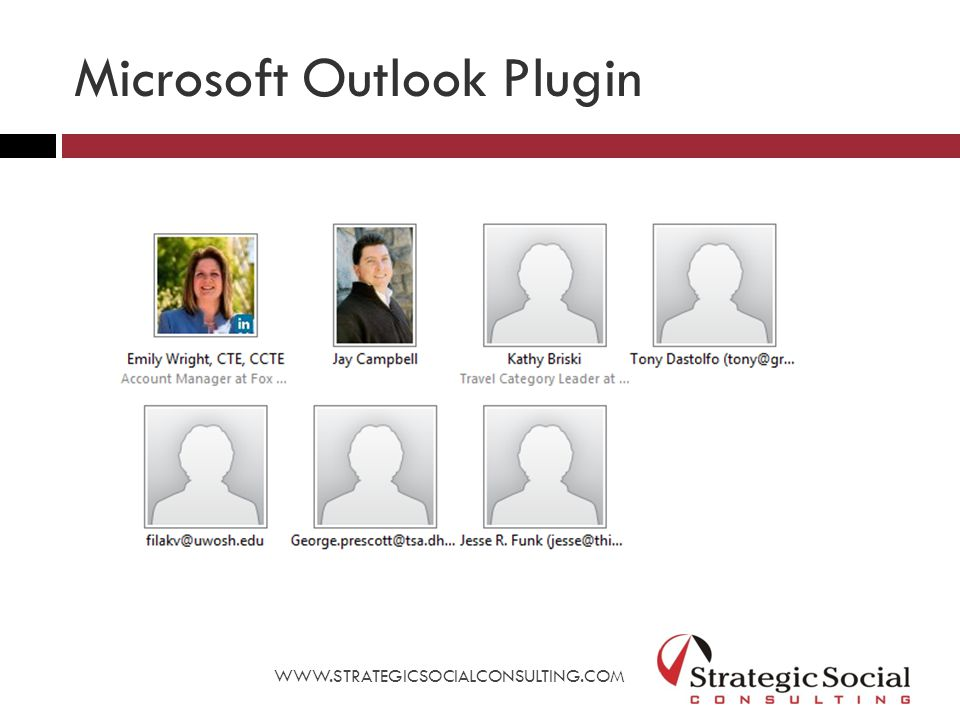 Microsoft Outlook Plugin WWW.STRATEGICSOCIALCONSULTING.COM