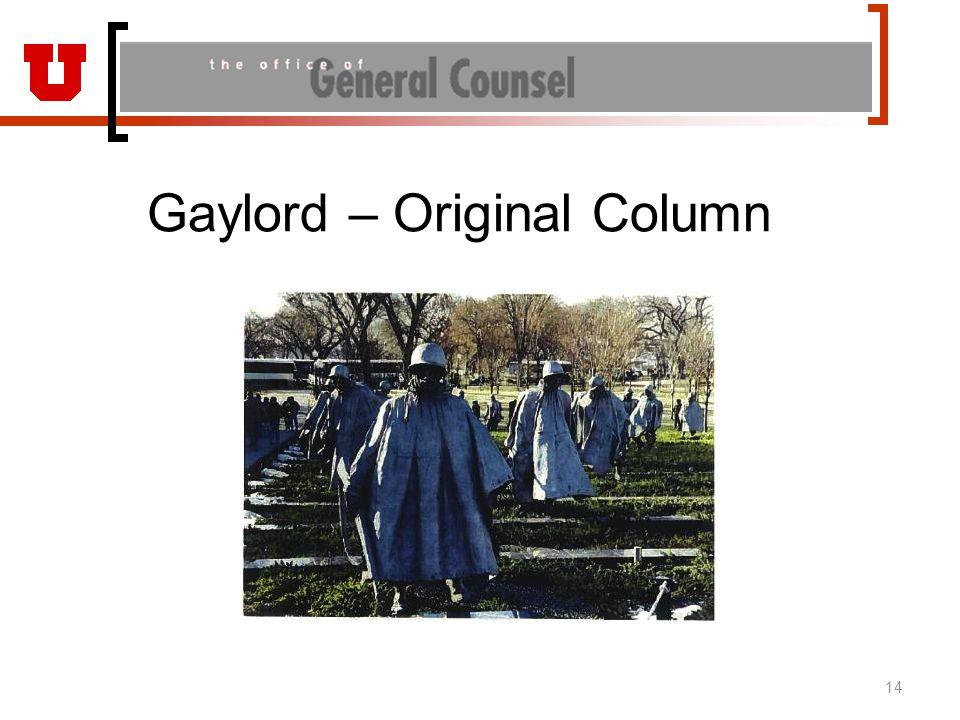 Gaylord – Original Column 14