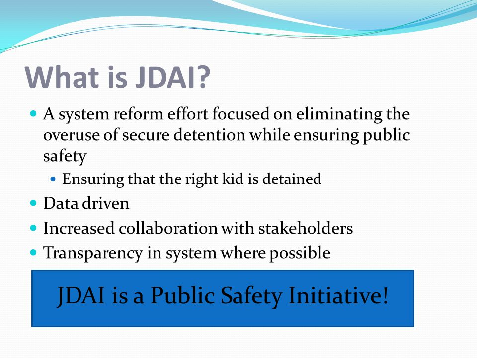 What is JDAI.