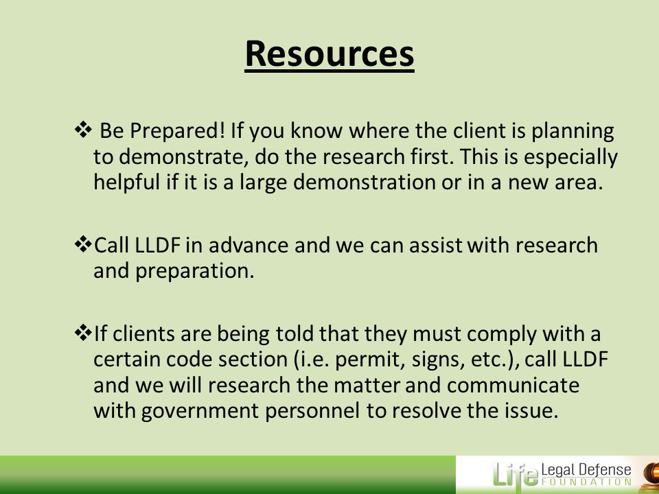Resources  Be Prepared.