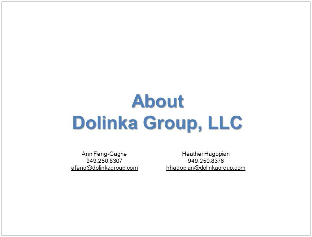 38 About Dolinka Group, LLC Ann Feng-Gagne 949.250.8307 afeng@dolinkagroup.com Heather Hagopian 949.250.8376 hhagopian@dolinkagroup.com