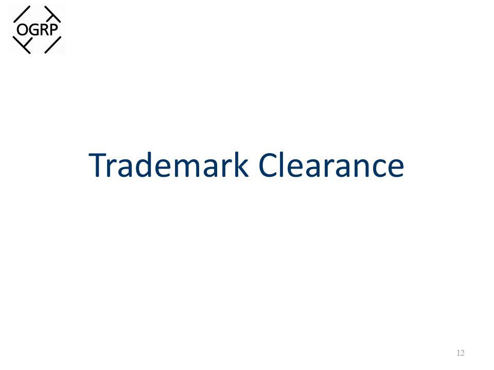 Trademark Clearance 12