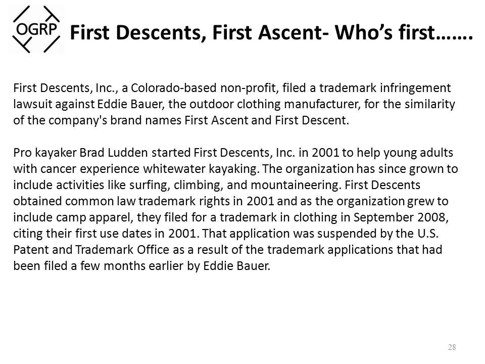 First Descents, First Ascent- Who's first…….