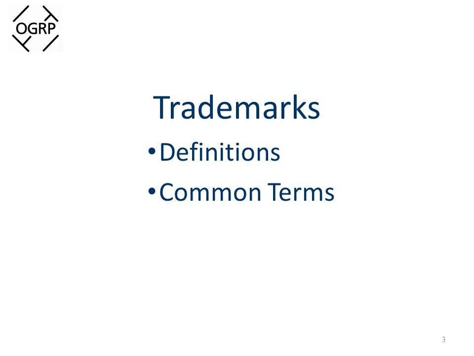 Trademarks Definitions Common Terms 3