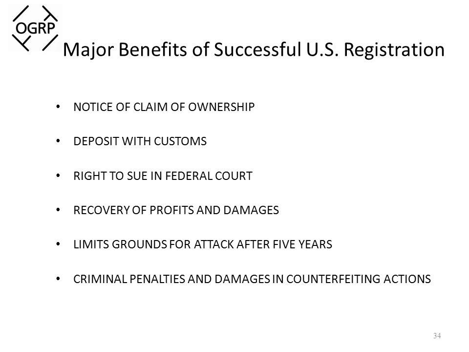 Major Benefits of Successful U.S.