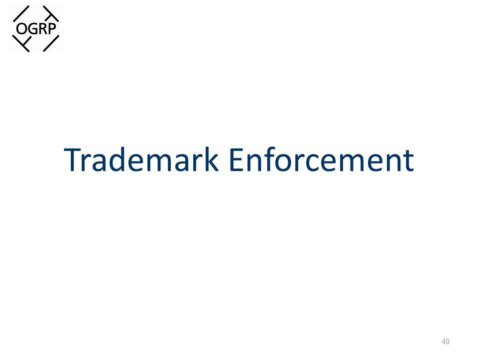 Trademark Enforcement 40