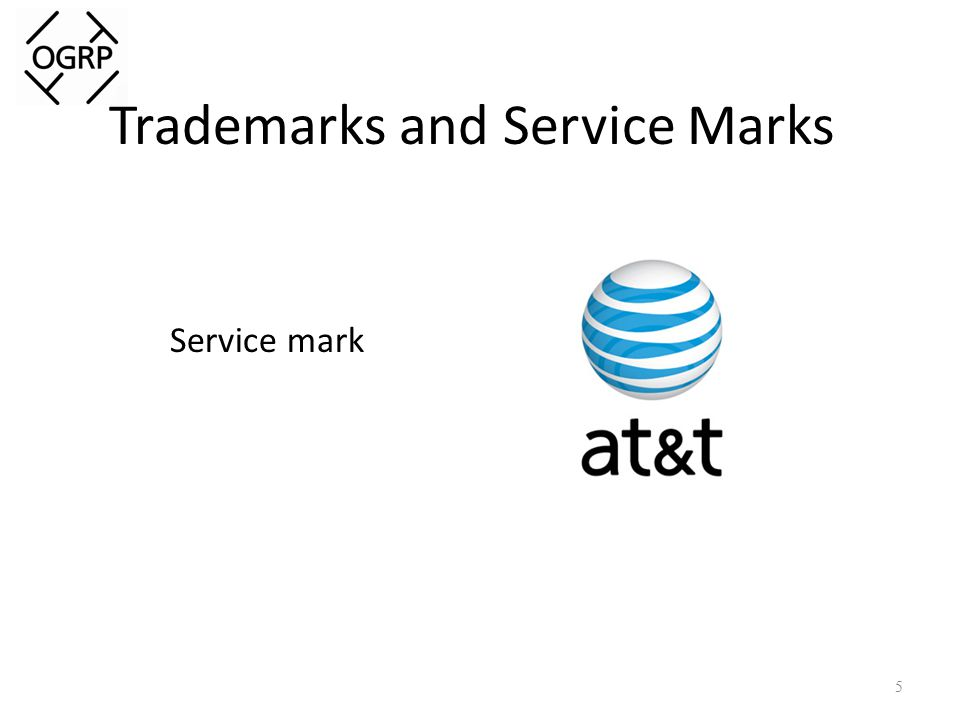 Trademarks and Service Marks Service mark 5