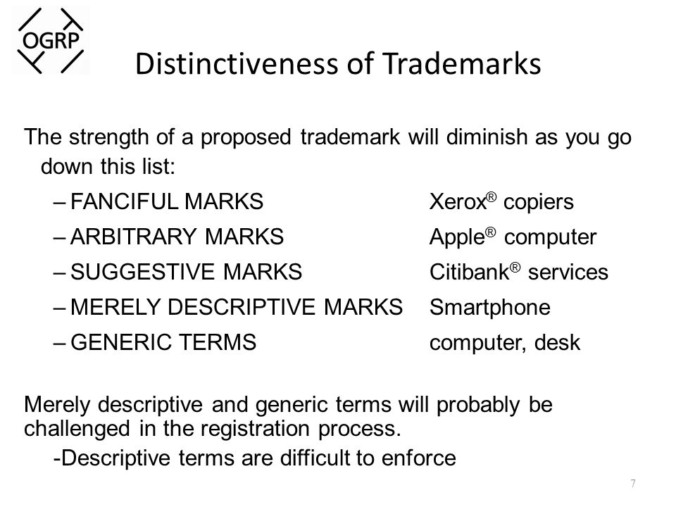 Rules of Trademark Usage ALWAYS use a trademark as an adjective.