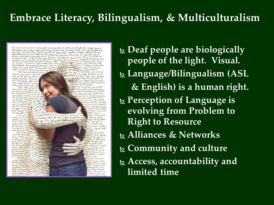  Deaf people are biologically people of the light.