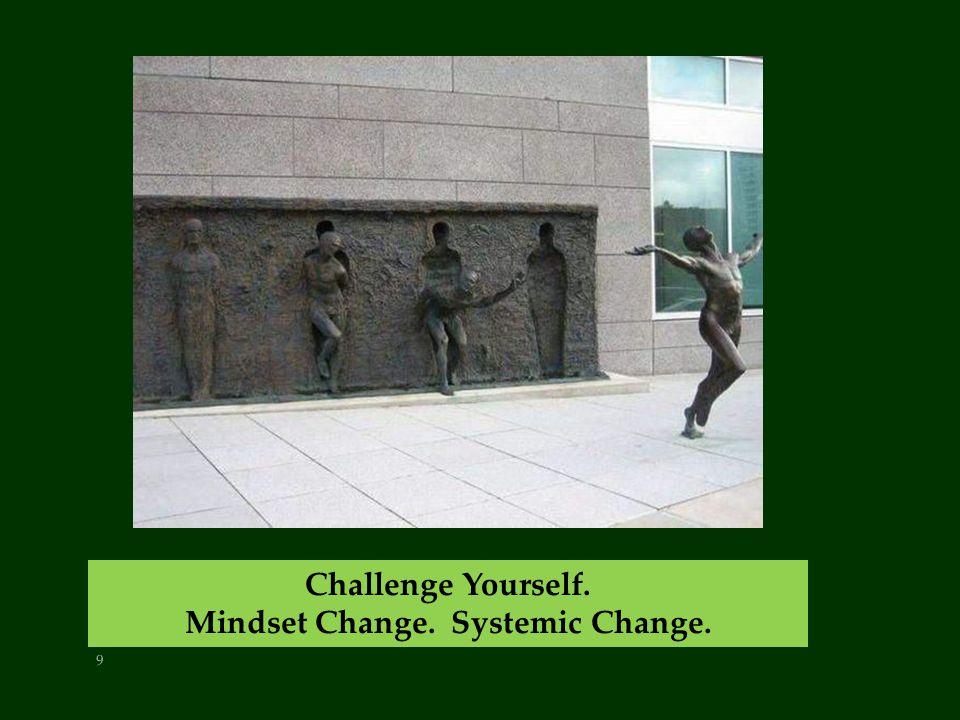 9 Challenge Yourself. Mindset Change. Systemic Change.