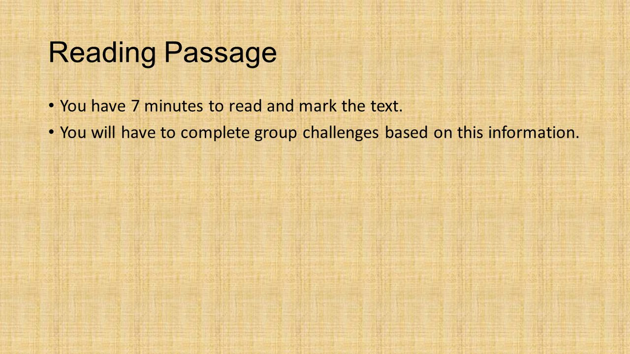 Group Challenge #3: Body Paragraph Do not open your envelope until instructed.