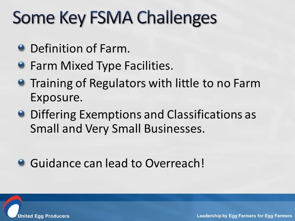 Definition of Farm. Farm Mixed Type Facilities. Training of Regulators with little to no Farm Exposure. Differing Exemptions and Classifications as Sm