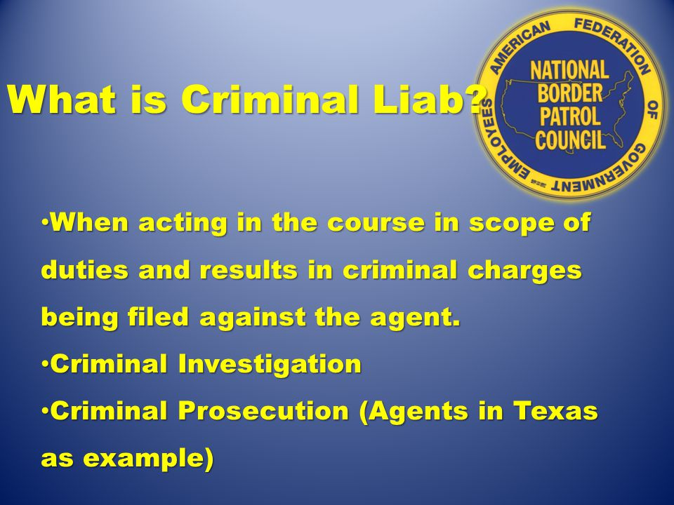 What is Criminal Liab.