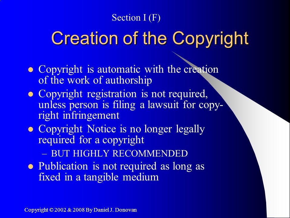 Copyright © 2002 & 2008 By Daniel J.