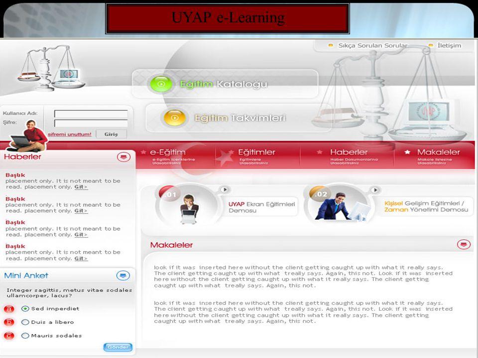 18 UYAP e-Learning