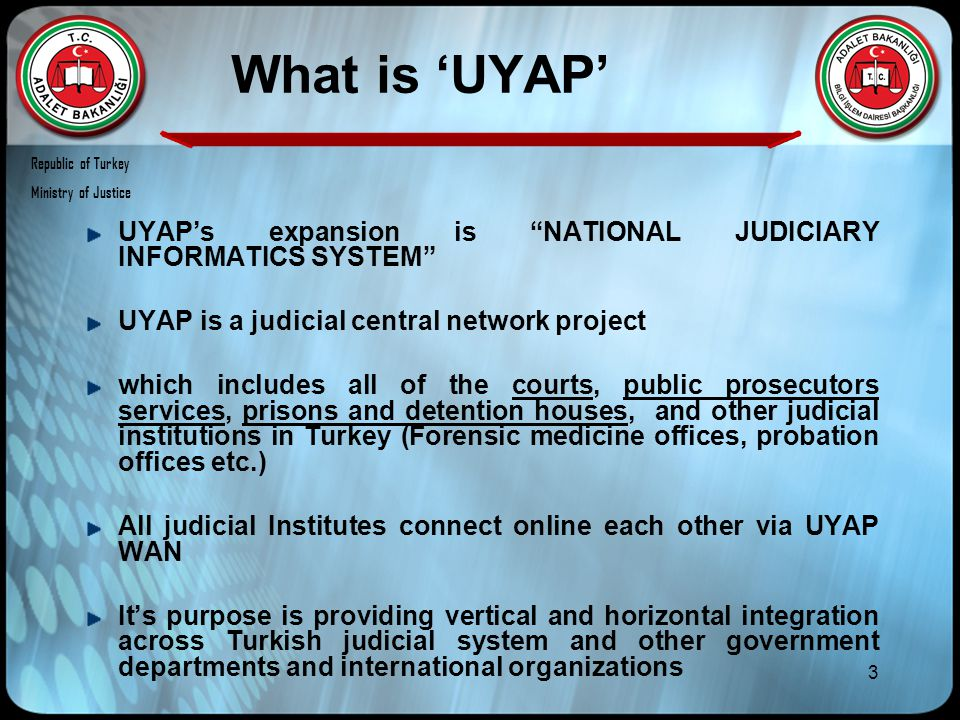 44 Group 1: UYAP'S Project Stakeholders UYAP SeniorResponsibleOwner Project Team/ Maincontractors Project Project Teams subcontractors Project teams Internal Project board Republic of Turkey Ministry of Justice