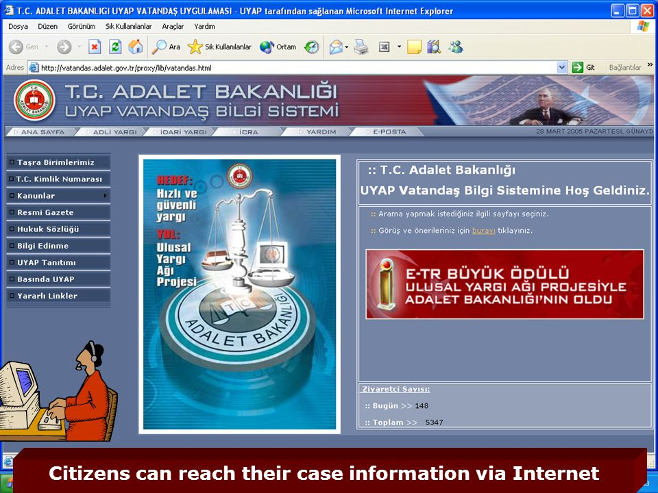 50 Citizens can reach their case information via Internet